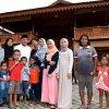 Gubernur Sumatera Utara Edy Rahmayadi ketika menggelar Open House di kediaman pribadinya Rumah Panggung Kayu, Jalan Delitua Pamah, Gang Bunga, Deliserdang