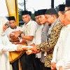 Sekretaris Daerah Provinsi Sumatera Utara Dr Ir Hj R Sabrina, M.Si saat Safari Ramadan 1440 H/ 2019 M di Kabupaten Labura yang dilaksakan di Rumah Dinas Bupati Labura