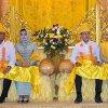 Gubernur dan Wakil Gubernur Sumatera Utara, Edy Rahmayadi dan Musa Rajekshah saat acara Tepung Tawar dan Upah-Upah di Rumah Dinas Gubernur Jalan Sudirman 41 Medan