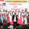 Gubernur Sumatera Utara Edy Rahmayadi pada acara Temu Ramah dengan Guru SMK se-Sumut dalam rangka Revitalisasi SMK, di halaman SMK Negeri 1 Beringin Kabupaten Deliserdang