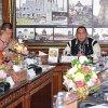 Gubernur Sumut Edy Rahmayadi saat rapat koordinasi dengan Forkopimda Provsu, BPBD Provsu dan pimpinan OPD Provsu tentang SOP Penanganan Bencana dan Sispam Kota