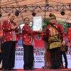 Gubernur Sumatera Utara (Gubsu) Edy Rahmayadi membuka secara resmi Jambore Teknologi Tepat Guna Ke-18 Tingkat Provinsi Sumatera Utara di Lapangan Merdeka, Kota Tebingtinggi