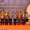 Gubernur Sumatera Utara Edy Rahmayadi menghadiri Malam Apresiasi Wajib Pajak, Tax Gathering 2018 Kantor Wilayah Direktorat Jenderal Pajak Sumatera Utara I & II di Ballroom Hotel Santika Medan