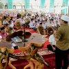 Gubernur Sumatera Utara, Edy Rahmayadi menunaikan shalat ghaib berjama'ah di Masjid Raya Panyabungan, Kabupaten Mandailing Natal bagi korbam bencana banjir bandang yang terjadi di desa Muara Saladi, Kec. Ulu Pungkut