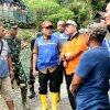 Gubernur Sumatera Utara, Edy Rahmayadi meninjau lokasi pembangunan SMK Perkebunan di Kecamatan Ulu Pungkut, Kabupaten Mandailing Natal