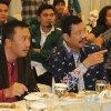 Gubsu Tengku Erry Nuradi menjamu Menpora Imam Nahrawi bersama peserta Rakernas I PP Himmah di Rumah Dinas Gubernur, Jalan Jenderal Sudirman, Medan