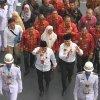 Penyambutan kedatangan Gubernur dan Wakil Gubernur Sumatera Utara, Edy Rahmayadi dan Musa Rajekshah di Kantor Gubernur Sumatera Utara Jalan P. Diponegoro No, 30 Medan