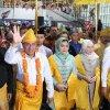 Penyambutan kedatangan Gubernur dan Wakil Gubernur Sumatera Utara, Edy Rahmayadi dan Musa Rajekshah di Bandara Kualanamu, Deli Serdang