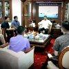 Gubsu Tengku Erry Nuradi Menerima Audiensi Panitia Pelaksana Scripta Research Festival 2018 di Ruang Kerja Kantor Gubsu, Medan