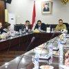Wakil Gubernur Sumatera Utara Musa Rajekshah menghadiri pertemuan dengan investor asing yang berasal dari Korea Selatan di Kaharuddin Nasution Lantai 8 Kantor Gubernur Sumatera Utara Jalan P. Diponegoro Medan