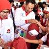 Penjabat Gubernur Sumatera Utara (Pj Gubsu)  Drs Eko Subowo MBA bersama Ketua TP PKK Ny Iit Kartika Subowo menghadiri puncak acara Hari Keluarga Nasional 2018 kawasan Megamas Manado, Sulawesi Utara