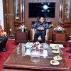 Penjabat Gubernur Sumatera Utara (Pj Gubsu) Drs Eko Subowo MBA menerima kunjungan kerja Kepala Perwakilan Badan Kependudukan dan Keluarga Berencana Nasional (BKKBN) Sumut Drs Temazaro Zega MKes di ruang kerjanya, Lantai X Kantor Gubsu, Jalan P Dipone