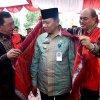 Pj Gubernur Sumatera Utara (Pj Gubsu) Drs Eko Subowo MBA hadiri Pawai Karnaval Budaya dalam rangka hari jadi ke-101 Kota Tebing Tinggi, di Jalan Dr Sutomo