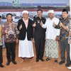 Gubsu Tengku Erry Nuradi bersama Bupati Madina Dahlan Hasan Nasution pada acara peletakan batu pertama pembangunan Rumah Sakit Umum Ibu dan Anak di Panyabungan, Madina
