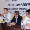 Wagub Sumut Musa Rajekshah pada Press Conference Seminar dan Workshop Nasional Membangun Kemitraan yang Berkelanjutan untuk Mencapai Sustainable Development Goals, di Hotel Aryaduta Medan