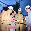 Wakil Gubernur Sumatera Utara Musa Rajekshah meninjau pembangunan gedung Badan Pengembangan Sumber Daya Manusia (BPSDM) Provinsi Sumatera Utara Jalan Ngalengko Medan