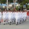 Pasukan Pengibar Bendera Pusaka Sumut Tahun 2019, berhasil melaksanakan tugasnya menurunkan bendera merah putih pada Peringatan Hari Ulang Tahun (HUT) ke-74 Kemerdekaan Republik Indonesia di Lapangan Merdeka Medan