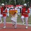 Gubernur Sumatera Utara Edy Rahmayadi saat menjadi Inspektur Upacara pada peringatan Hari Ulang Tahun Kemerdekaan ke 74 Republik Indonesia di Lapangan Merdeka Medan. yang dihadiri Forum Koordinasi Pimpinan Daerah Provsu
