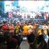 Gubsu Edy Rahmayadi didampingi Wagubsu Musa Rajekshah dan Sekda Sabrina beserta unsur Forkopimda Provsu saat membuka acara Pesta Rakyat dalam rangka peringatan HUT Ke-74 Republik Indonesia di Lapangan Merdeka, Medan